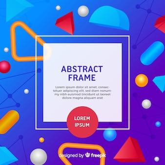 幾何学的なスタイルを持つ現代の抽象的なフレーム