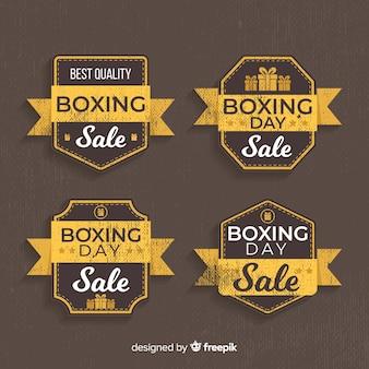 ヴィンテージボクシングデー販売バッジコレクション