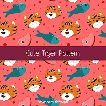Плоский симпатичный тигр