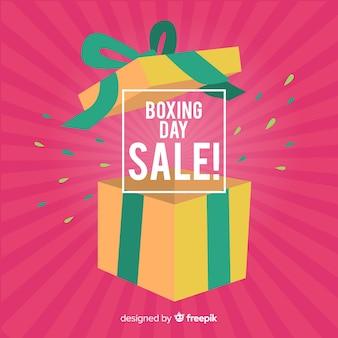 オープンボクシングの日の販売の背景