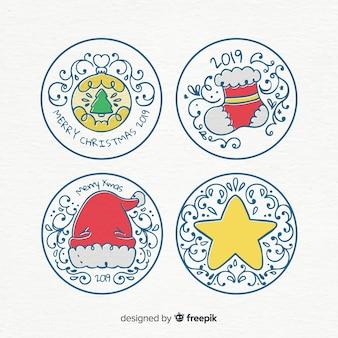 Прекрасная коллекция рождественских значков