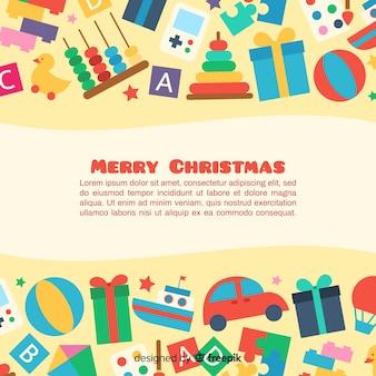 Прекрасный фон с рождественскими игрушками