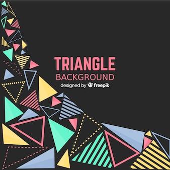 カラフルな三角形を持つ抽象的な背景