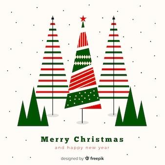 素敵なクリスマスツリーの構成