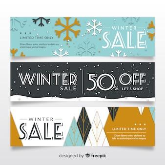 Прекрасные ручные зимние рекламные баннеры
