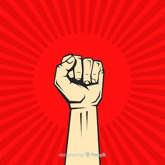 Классическая революционная композиция с поднятым кулаком