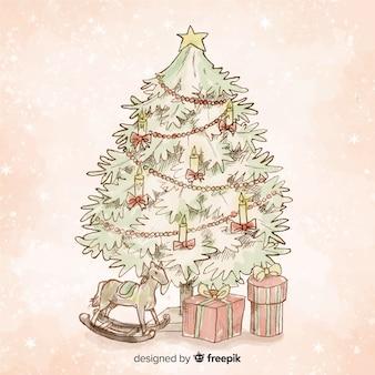 ヴィンテージクリスマスツリーの背景