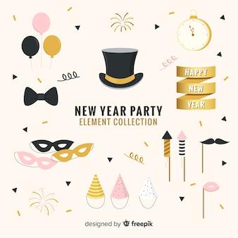 新年パーティーの要素コレクション