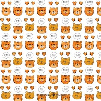タイガーの顔のパターン