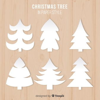 紙クリスマスツリーコレクション