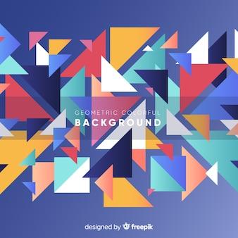Современный абстрактный фон с геометрическими фигурами