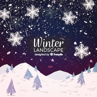 素敵な冬の風景の構成