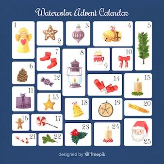 水彩のアドベントカレンダー