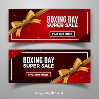 現実的なボクシングの日の販売バナー