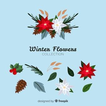 美しい冬の花のコレクション