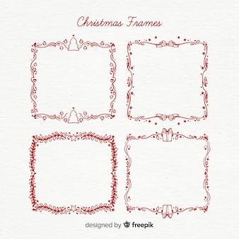 クリスマスシンプルなフレームパック