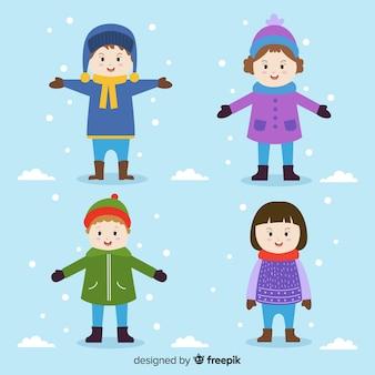 Красочные зимние друзья
