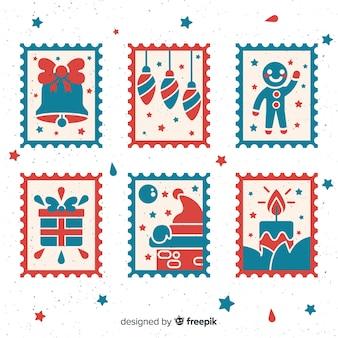 クリスマスの切手コレクション