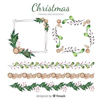 クリスマスのフレームとボーダー