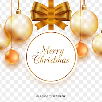透明な背景の美しいクリスマス
