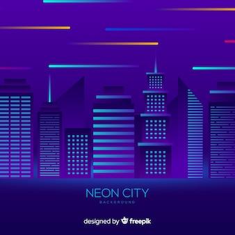 Город неоновый фон