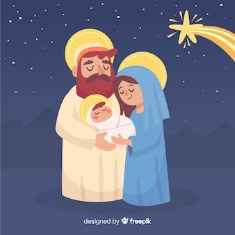 Любящая семья рождества