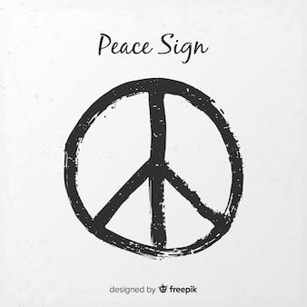 モダンな平和シンボル、グランジスタイル