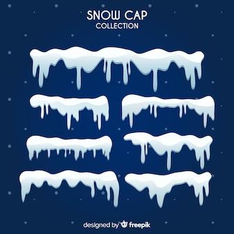 Реалистичная коллекция снежных шапок