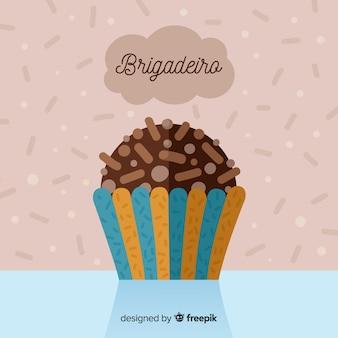 Бригадиро плоский фон