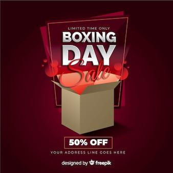現実的なボクシングの日の販売の背景