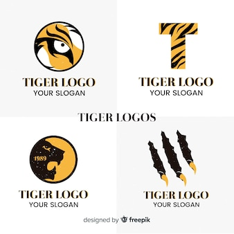 シンプルなトラのロゴパック