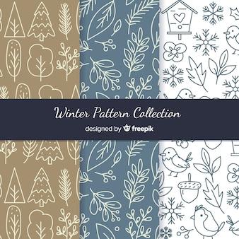 Коллекция зимних рисунков ручной работы