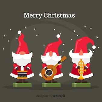 クリスマス玩具の背景