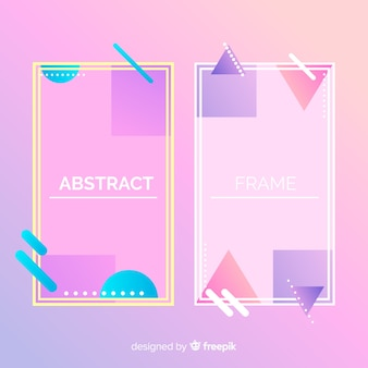 抽象的なバナーセット
