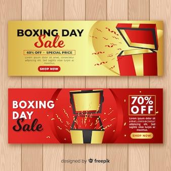 Реалистичные баннеры продажи бокса