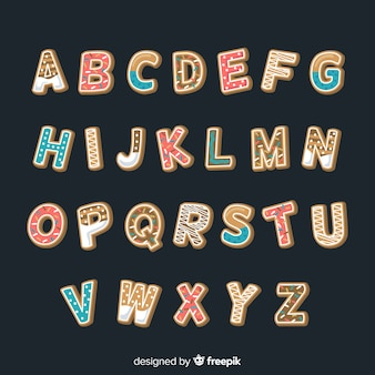 ジンジャーブレッドクッキーのアルファベット