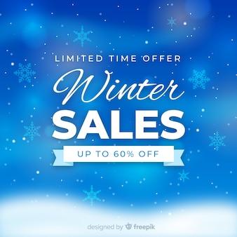 ぼんやりした冬の販売の背景