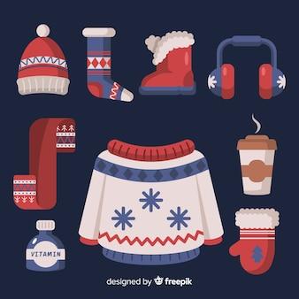 Плоская зимняя одежда и предметы первой необходимости