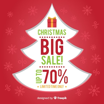 カットクリスマスツリーの販売の背景
