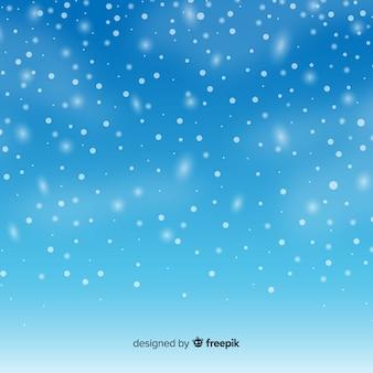 空の背景に現実的な落書きの雪片