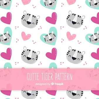 かわいいトラのパターン