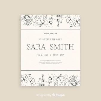 葬儀カードのテンプレート