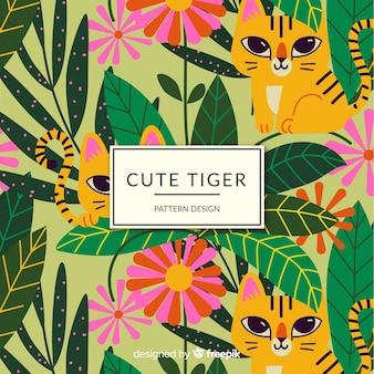 Дружелюбный узор тигра