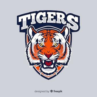 タイガーロゴの背景