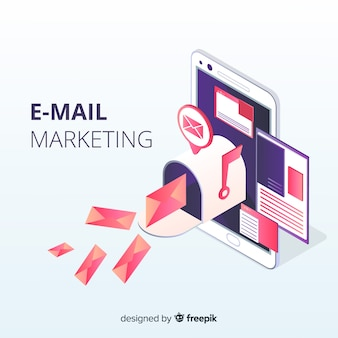 Изометрический электронный маркетинг