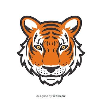 タイガーの顔の背景