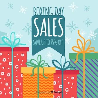 День продажи плоского бокса