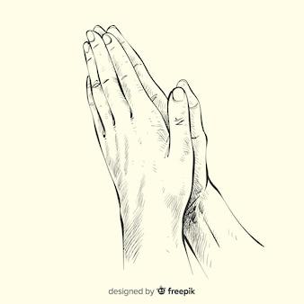 Фон молящихся рук