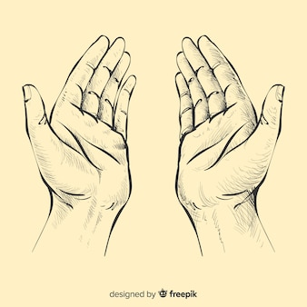 祈る手の背景
