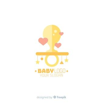 Симпатичный шаблон логотипа магазина для детей с современным стилем
